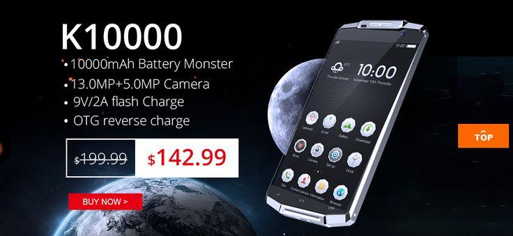 OUKITEL K10000 with 10,000 mAh battery flash sale