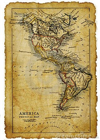 antiguo mapa de america