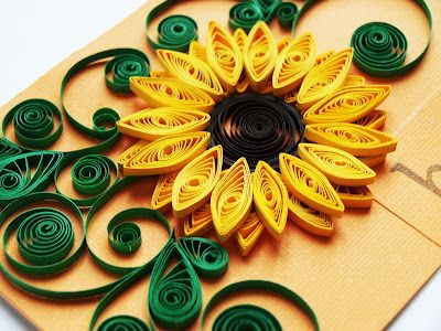 I love this sunflower.            paper quilling patterns free   love paper quilling! It's so much fun and the results are beautiful ...