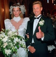 pictures of Wayne Gretzky and Janet Jones, married in 1988