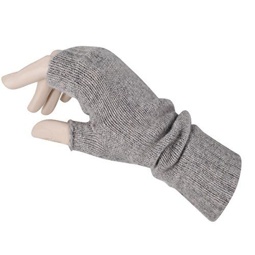 Women's Fingerless Mitts Pure Cashmere