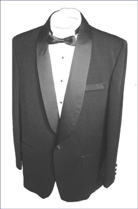 SKU#SH712 Black single button, shawl collar tuxedo jacket and pants with besom pocket $79 Tuxedos / Formalwear Shawl Collar Tuxedos