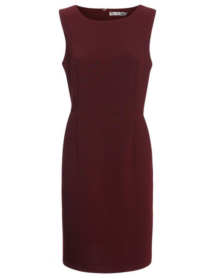 Kastanjebruin kleedje met hoge taille | van D'Auvry - e5 mode