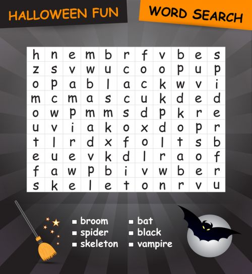 Plan the perfect Halloween scavenger hunt for your classroom! Print this free spooky word search puzzle along with other brain teasers and worksheets. When your students finish the puzzle then give them a clue as to where the next puzzle is located in your building or on school grounds. Once the children reach and finish the last puzzle they win a prize!