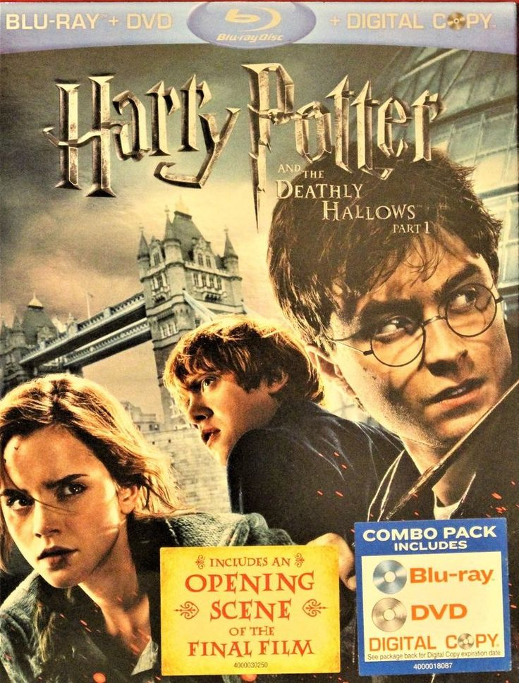 Harry Potter and the Deathly Hallows: Part I (Blu-ray/DVD, 2011, 3-Disc Set,...