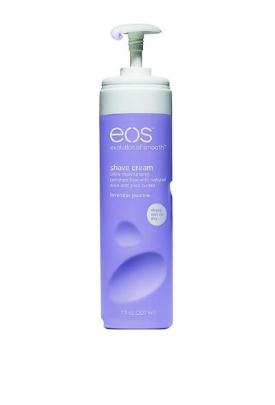 Best Shave Cream - EOS Ultra Moisturizing Shave Cream in Lavender Jasmine ($3; target.com)     Why it won: This ultra-moisturizing formula doesn't require water, so you can nix stubble sans irritation in a pinch. Bonus: The all-plastic bottle is recyclable and won't leave rust rings in your shower.    Shape - 2011