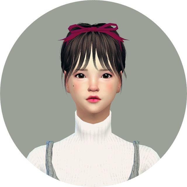 head ribbon_머리 리본_여자 머리띠 - SIMS4 marigold