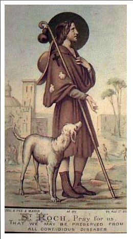 St Roche is the patron saint of dogs