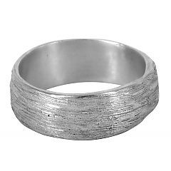 Wide Scribed wedding ring in sterling silver - $240   http://www.lordcoconut.com/shop/wide-scribed-ring/
