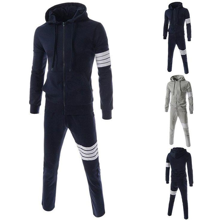 Men Sweat Suits Spring/Autumn Hoodies Set Sweatshirts Pant Mens Sportwear Plus Size 3XL