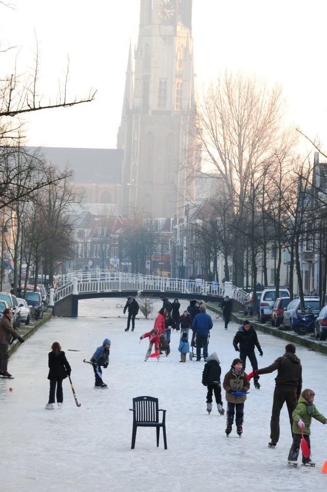 Schaatsen in de winter