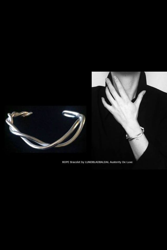 ROPE Bracelet | LUNDBLADBALDAL   An elegant sterling silver cuff. Handmade and unique.
