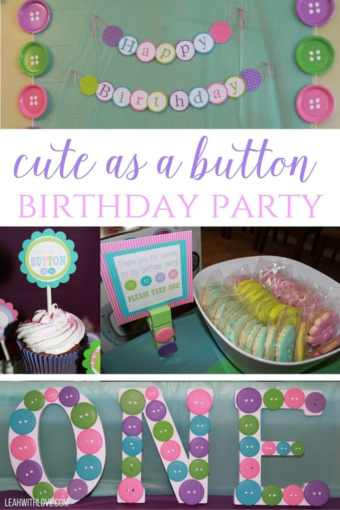 cute as a button birthday party