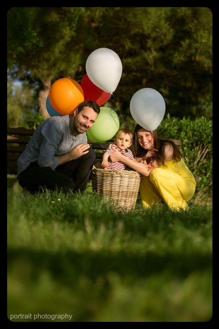 A beautiful day in the park! #family #baby #father #mother #afterchristening #parents #ballons #park