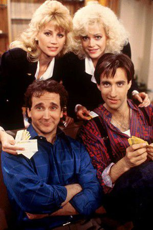 Perfect Strangers Cast. Dude I totally miss this show. I remember getting home from preschool, yes preschool and kindergarten and my mom would make me a sandwich, cut it down diagonally, put chips on the side and I pickle too and I'd eat that bomb ass lunch and watch this show almost every weekday. Wow... I miss being a kid. Sometimes (: