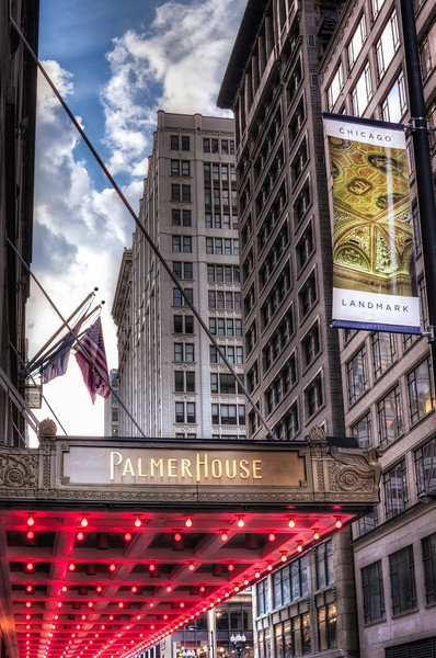 Palmer House ... The world famous hotel in downtown Chicago. Be sure to see visit if you are in the area...its beautiful.