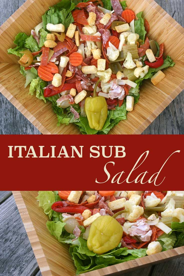 Don't eat an Italian sub, eat a salad instead! http://www.diabeticfoodie.com/2013/02/italian-sub-salad-for-sundaysupper/?utm_campaign=coschedule&utm_source=pinterest&utm_medium=Diabetic%20Foodie&utm_content=Italian%20Sub%20Salad%20for%20%23SundaySupper