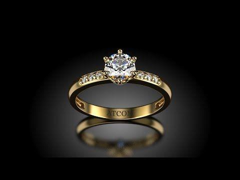 Inel de logodna Lux cu diamante Nixon din aur galben