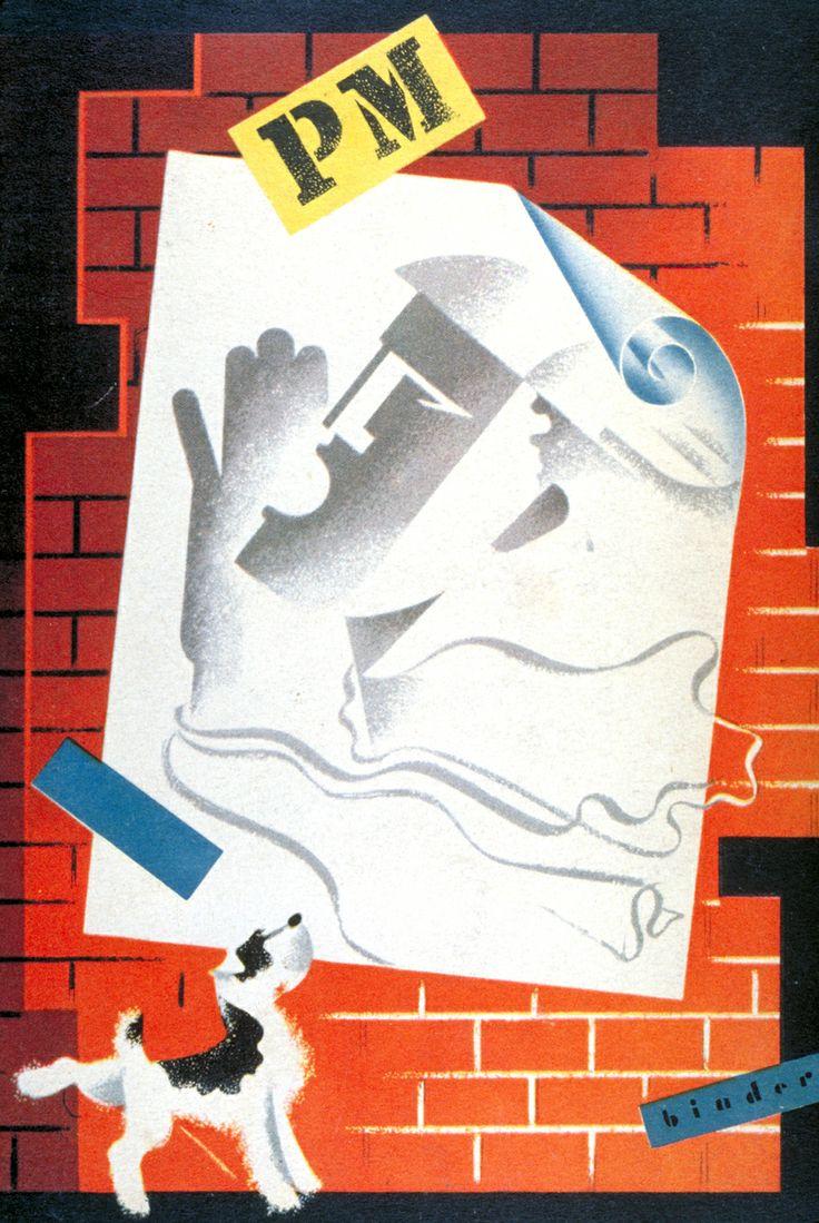 Poster design 1940 - Joseph Binder Cover For Pm Magazine 1940