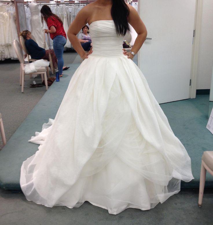 Popular Textured Organza Wedding Dress In Ivory Vw Wedding Dress Vera Wang