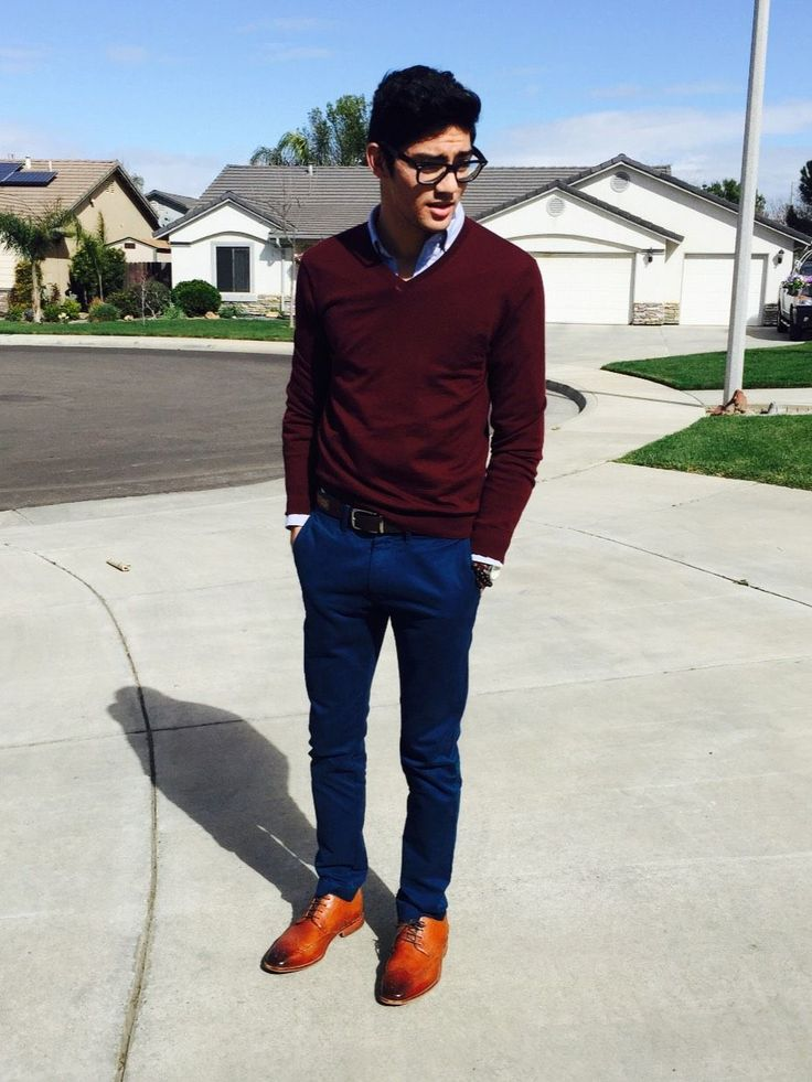 Chino chic by rafaelremotigue. See what else fits him. #menswear #chinos #brogues