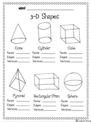 flat or solid shapes in kindergarten