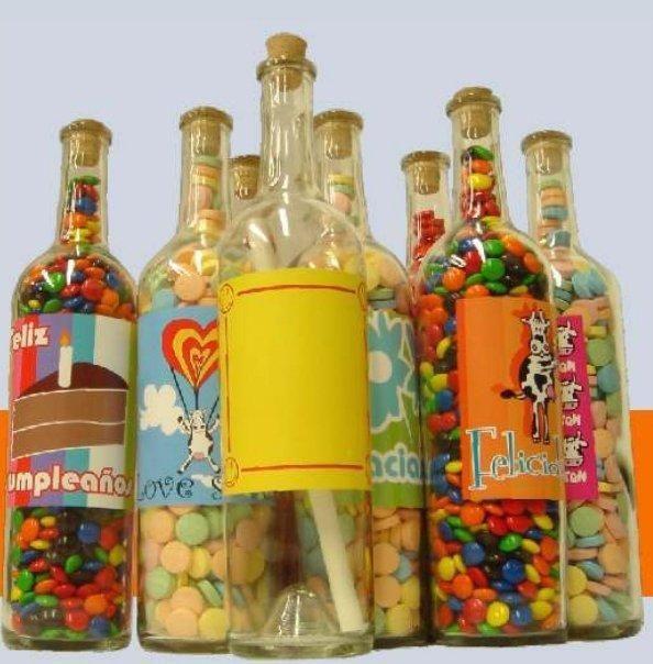 Botellas decoradas con dulces - Imagui