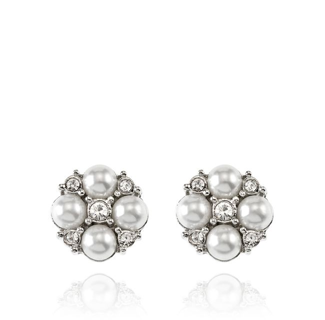 SAMANTHA WILLS - Be My Girl Stud Earrings; Wedding Pearls Silver Jewellery Bridal Wedding Luxe Jewelry