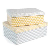 2 scatole in cartone gial...