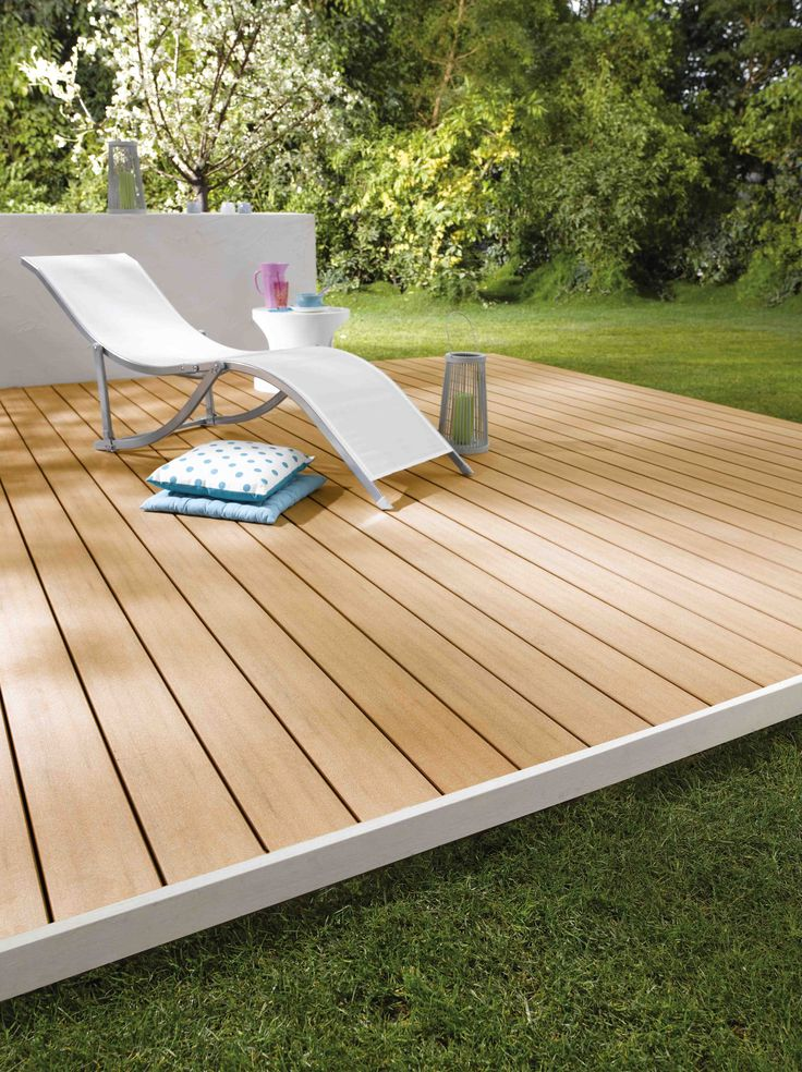 Lame de terrasse mod le emotion - Dalle de terrasse composite clipsable ...