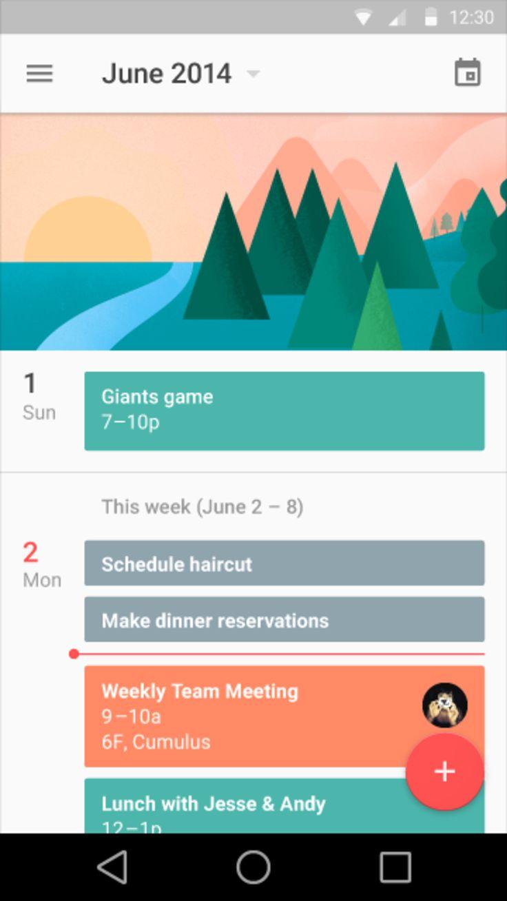 Google Material Design: Calendar: Agenda / ?
