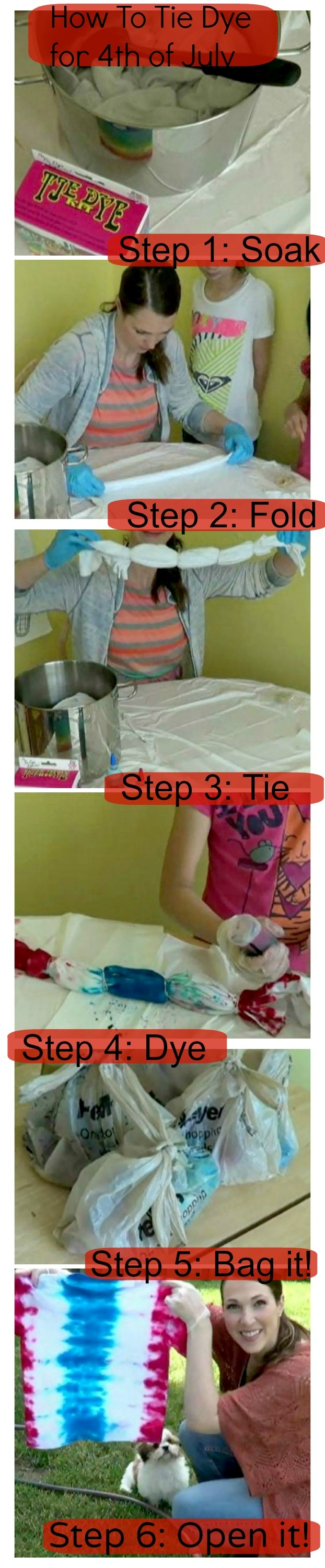 4th of July tie dye and a how-to!