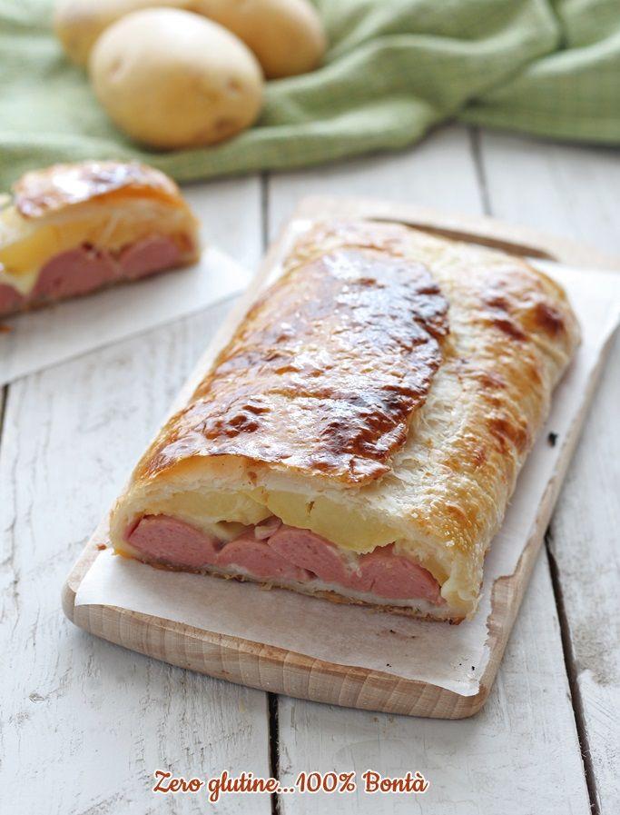 Ricetta Patate Wurstel E Mozzarella.Rustico Con Wurstel Patate E Mozzarella Ricette Idee Alimentari Ricette Di Cucina