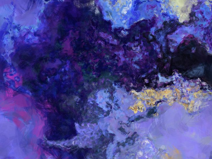 Large contemporary abstract art 30x40 giclee in blue and purple Midnight Blues