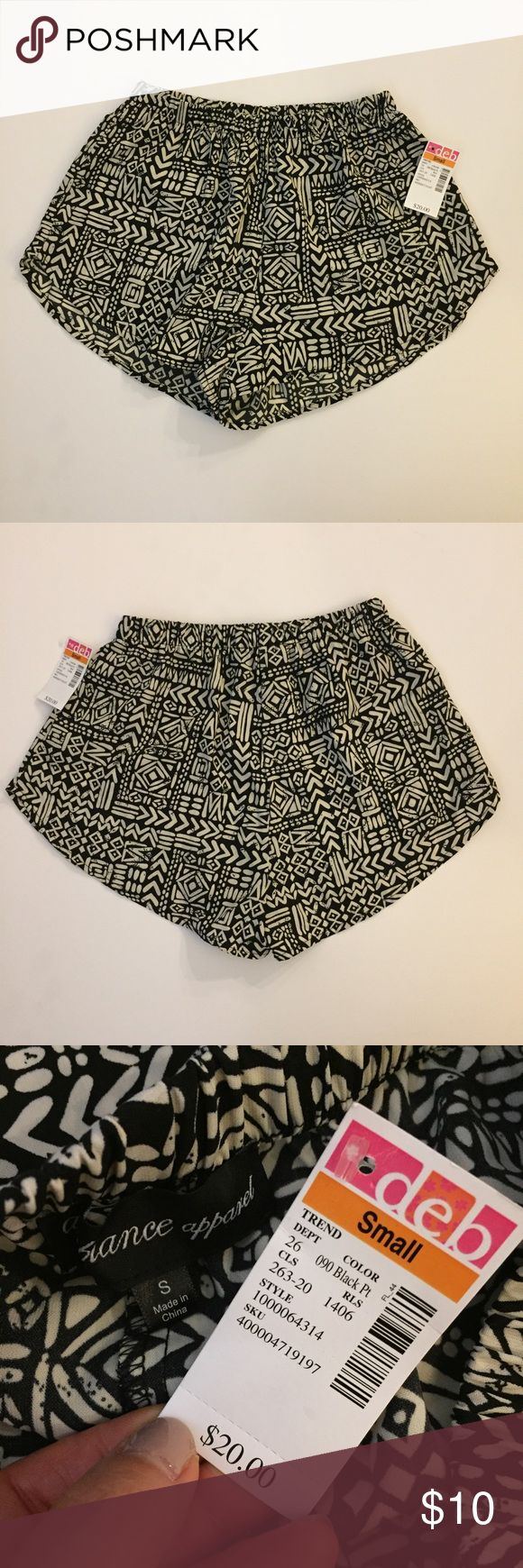 NEW deb shop tribal shorts-S Size small tags: forever 21, h and m, topshop Deb Shorts