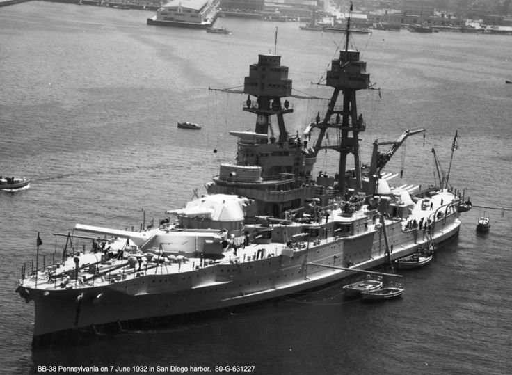 USS Pennsylvania (BB-38) was the lead ship of the Pennsylvania-class of US Navy battleships. After her was the notable USS Arizona (BB-39)! (google.image) 10.17