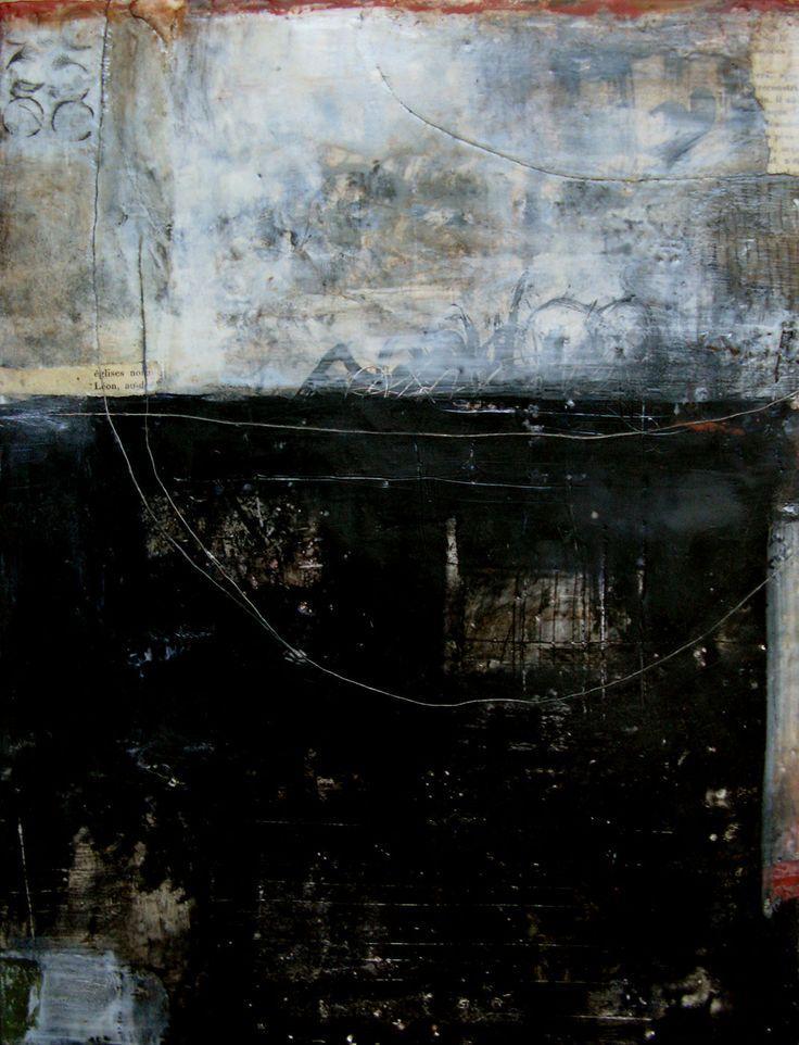The Longest Journey is an encaustic mixed media painting. The artist is Bridgette Guerzon Mills.