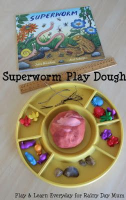 Superworm Play Dough Fun