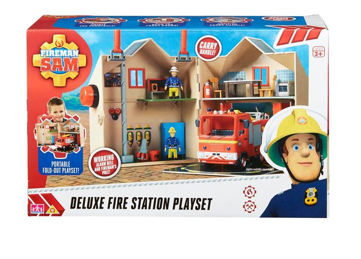 FIREMAN SAM DELUXE FIRE STATION PLAYSET. Join the Pontypandy Fire Service for a day's firefighting with the Fireman Sam Deluxe Fire Station! #planetfun #firemansam #toysfortoddlers #planetfunnz