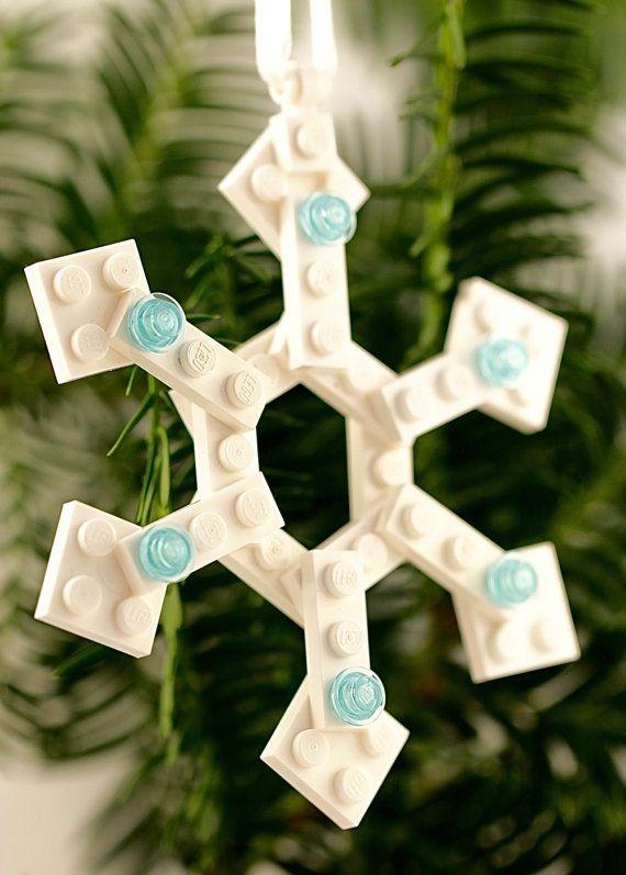 how to make lego christmas ornaments