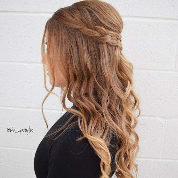 21 Cute Hairstyle Ideas For The Holidays Page 2 Of 2 Stayglam Hair Styles Cute Hairstyles Formal Hairstyles For Long Hair