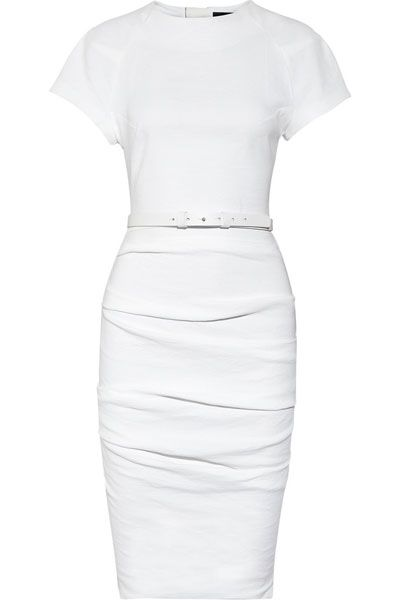 WHITE PENCIL DRESS - Gunda Daras