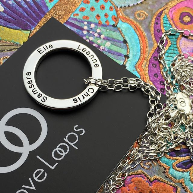 Four names look stunning on a single Large LoveLoop  #mumof4 #mumoffour #silverlove #mumlove