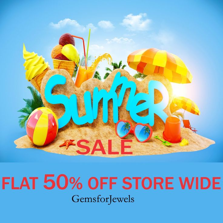 The Grand Summer Sale!! Flat 50% store wide. Only on Gemsforjewels. A wide range of semiprecious, precious gemstones and rough diamonds to choose from. Only for limited period!