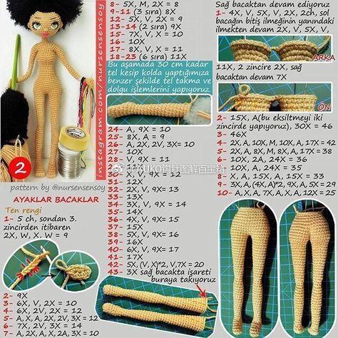 Амигуруми. Куколка Мулатка крючком (2)