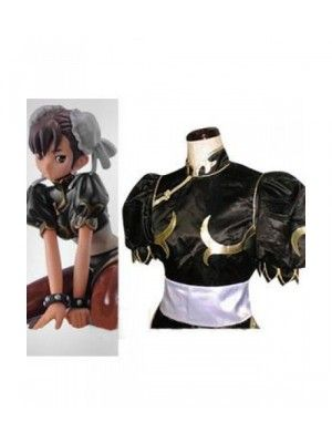 Street Fighter Chun Li Black Fighting Game Cosplay Outfits Costumes