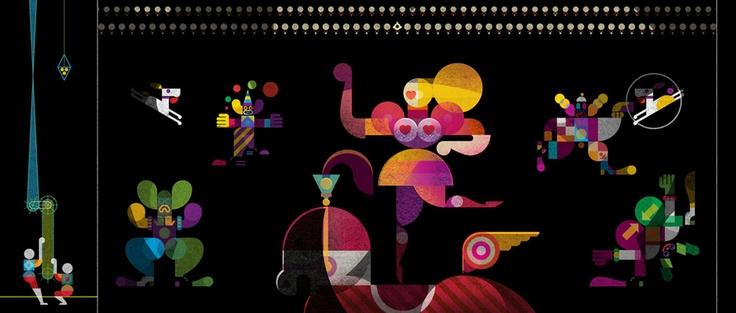 Christian Montenegro: Un Artista del Trapecio (detail): Montenegro Ilustra, Del Trapecio, Christian Montenegro S, Trapeze Artist, Trapecio Detail, Kafka Illustrations, Artist, Montenegro S Kafka
