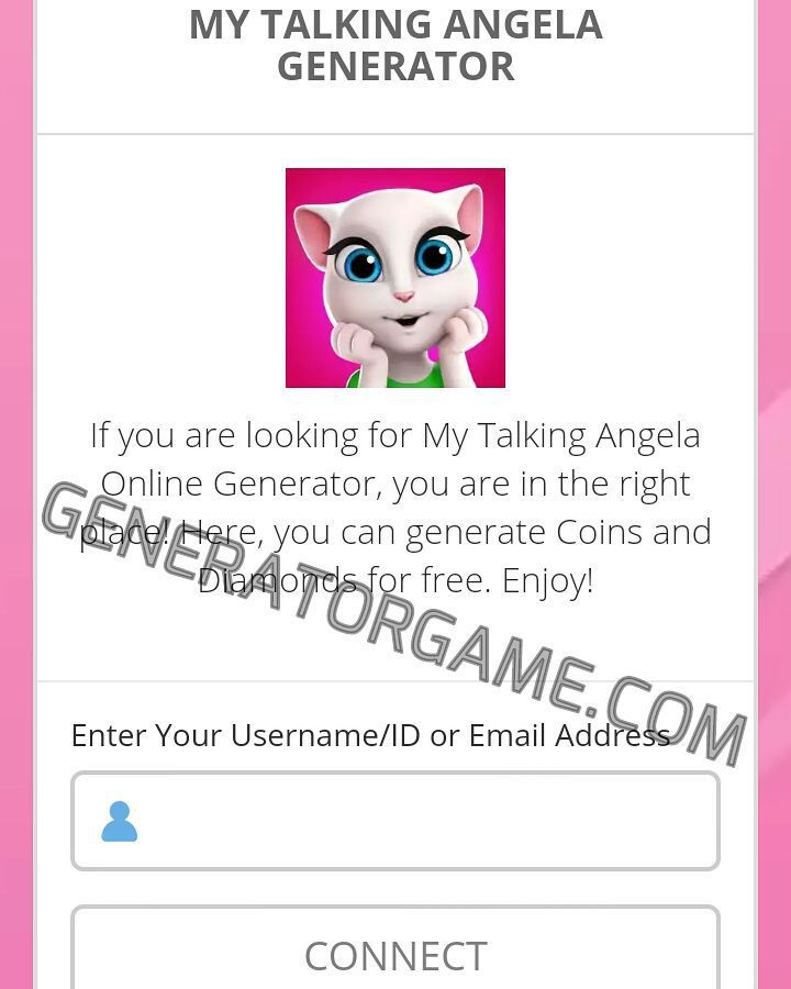 [NEW] MY TALKING ANGELA HACK ONLINE REAL WORKS: www.online.generatorgame.com Add up to 999999 Coins and Diamonds each day for Free: www.online.generatorgame.com  No More Lies Guys! This Method 100% Real Works: www.online.generatorgame.com  Please SHARE this real working hack method: www.online.generatorgame.com  HOW TO USE:  1. Go to >>> www.online.generatorgame.com and choose My Talking Angela image (you will be redirect to My Talking Angela site) 2. Enter Your My Talking Angela Username/ID…