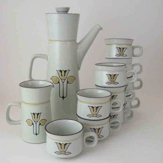 Denby Kimberly Coffee Pot Creamer and Cups Set of by WoolTrousers $78.00 & 67 best Collectables - Pottery - Denby Pottery images on Pinterest ...