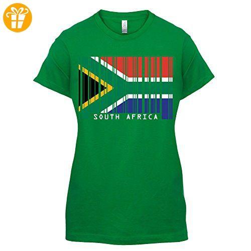 South Africa / Südafrika Barcode Flagge - Damen T-Shirt - Grün - XXL (*Partner-Link)